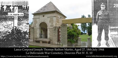 In Memoriam... Lance Corporal Joseph Thomas Railton Martin...